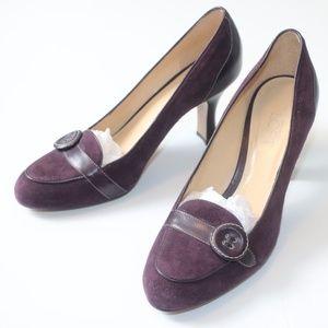NEW Loft Purple Suede Vintage Pump Heels